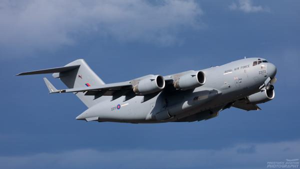 ZZ172. Boeing C-17A Globemaster III. RAF. Prestwick. 280820.