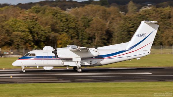 N8200J. Bombardier Dash 8 Q200. Dynamic Aviation. Prestwick. 121020.