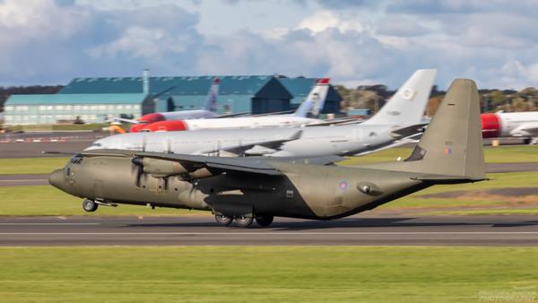 ZH872. Lockheed Martin Hercules C.4. RAF. Prestwick. 011020.