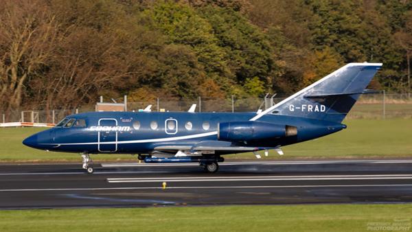 G-FRAD. Dassault Falcon 20E. Cobham. Prestwick. 121020.