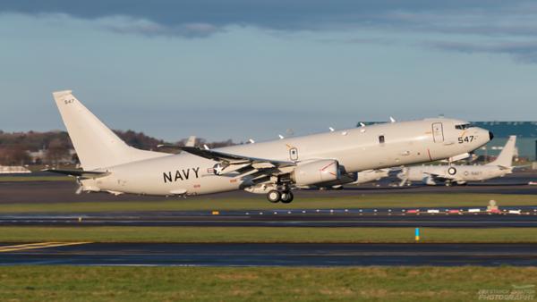 169547. Boeing P-8A Poseidon. US Navy. Prestwick. 291120.