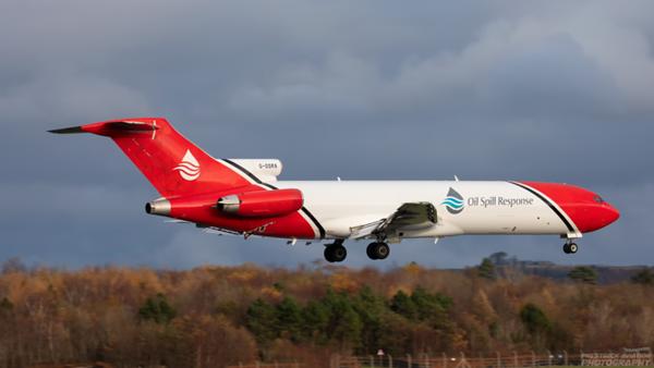 G-OSRA. Boeing 727-2S2F Adv(RE) Super 27. Oil Spill Response. Prestwick. 101120.