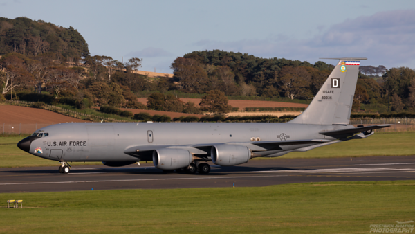58-0036. Boeing KC-135R Stratotanker. USAF. Prestwick. 250920.