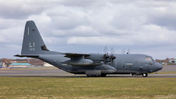 17-5870. Lockheed HC-130J Hercules. USAF. Prestwick. 130421.