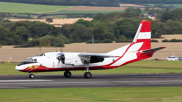 UR-UZL. Antonov AN-26. Constanta Airlines. Prestwick. 230821.