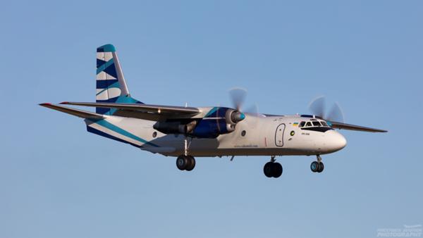 UR-CQD. Antonov An-26B. Vulcan Air. Prestwick. 110221.