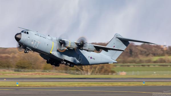 ZM416. Airbus A400M Atlas C1. RAF. Prestwick. 110421.