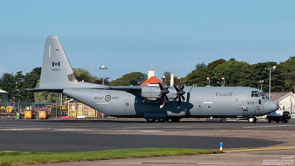 130602. Lockheed Martin CC-130J-30 Hercules. Canadian Air Force. Prestwick. 010921.