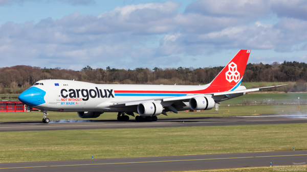 LX-VCF. Boeing 747-8R7F/SCD. Cargolux. Prestwick. 060421.