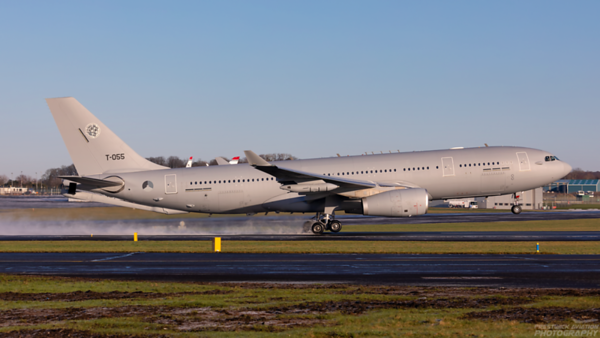 T-055. Airbus A330-243MRTT. Netherlands Air Force. Prestwick. 060121.