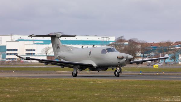 07-0779. Pilatus U28A. USAF. Prestwick. 130421.