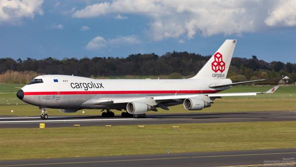 LX-NCL. Boeing 747-4EVF(ER). Cargolux. Prestwick. 010521.
