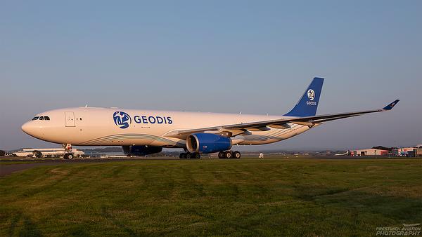 G-EODS. Airbus A330-343(P2F). GEODIS. Prestwick. 020921.