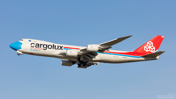 LX-VCF. Boeing 747-8R7F/SCD. Cargolux. Prestwick. 170321.