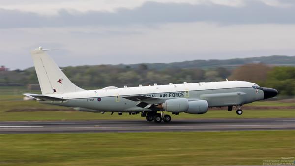 ZZ664. Boeing RC-135W. RAF. Prestwick. 130521.