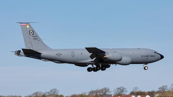 58-0036. Boeing KC-135R Stratotanker. USAF. Prestwick. 210421.