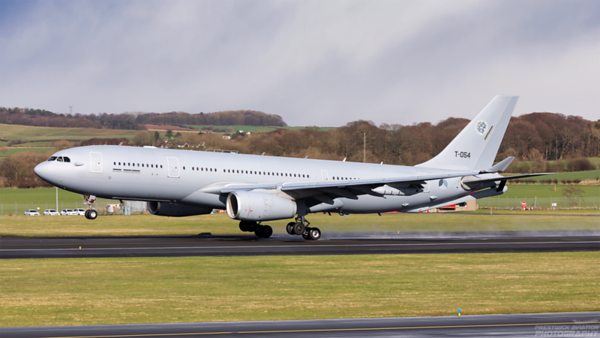 T-054. Airbus A330-243MRTT Netherlands Air Force. Prestwick. 260321.