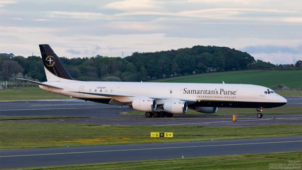 N782SP. Douglas DC-8-72CF.  Samaritan's Purse. Prestwick. 070621.