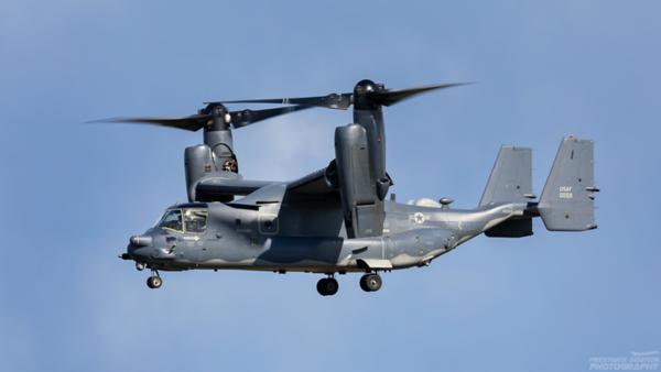 110059. Bell Boeing MV-22B Osprey. USAF. Prestwick. 060421.