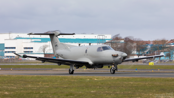 07-0793. Pilatus U28A. USAF. Prestwick. 130421.
