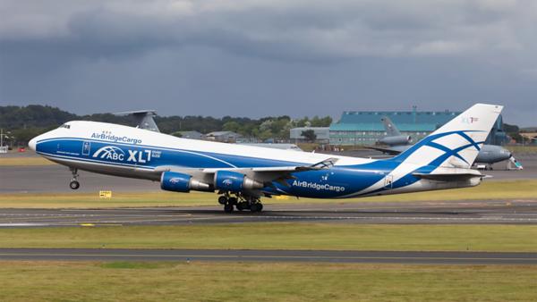 VP-BIK. Boeing 747-46NF(ER) .Air Bridge Cargo. Prestwick. 080821.