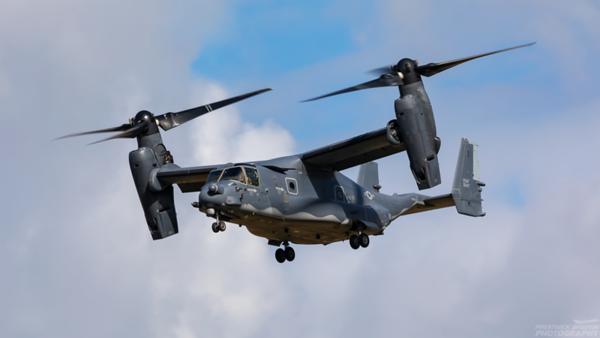 08-0047. Bell-Boeing CV-22B Osprey. USAF. Prestwick. 100821.