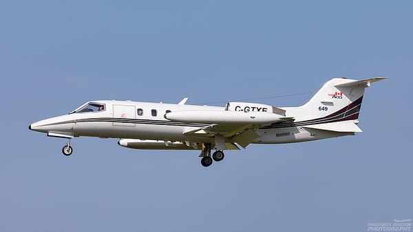C-GTXE. Gates Learjet 35A. Top Aces. Prestwick. 240821.