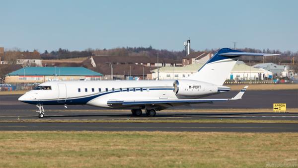 M-PORT. Bombardier BD-700-1A11 Global 5000. Private. Prestwick. 120221.