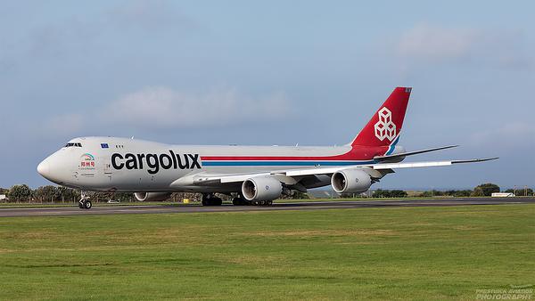 LX-VCJ. Boeing 747-8R7F/SCD. Cargolux. Prestwick. 260821.