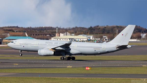 ZZ335. Airbus A330-243 (MRTT) Voyager KC1. RAF. Prestwick. 110421.