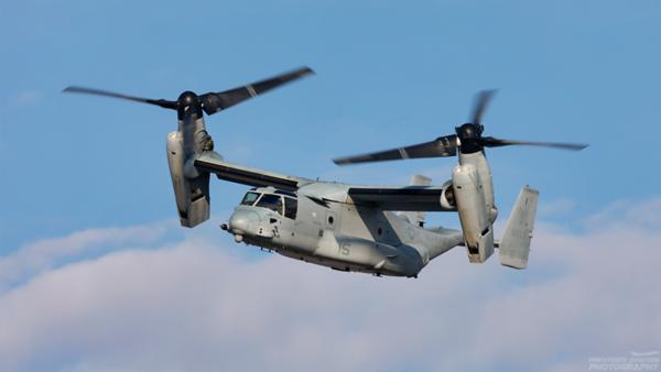 168653. MV-22B Osprey. US Marine Corps. Prestwick. 150421.