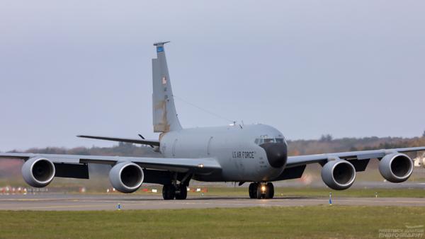 61-0314. Boeing KC-135R Stratotanker. USAF. Prestwick.130421.
