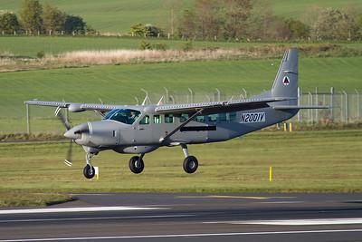 N2001V. Cessna 208B Caravan. Afghan Air Force. Prestwick. 150512.