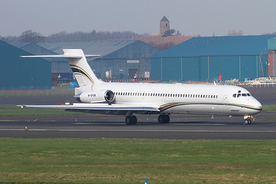 M-SFAM. McDonnell Douglas MD-87. Private. Prestwick. 240312.  Crew training MD-87.