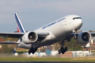F-GUOC. Boeing 777-F28. Air France Cargo. Prestwick. 210212.