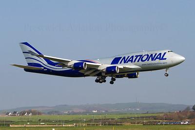 N949CA. Boeing 747-428M(BCF). National Cargo. Prestwick. 220312.