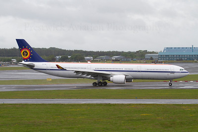 CS-TMT. Airbus A330-322. Belgium Air Force. Prestwick. 160612.