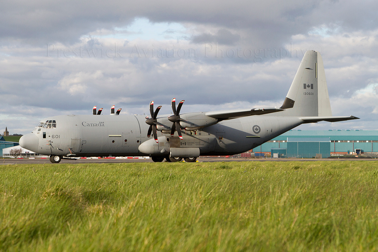130601. Lockheed Martin CC-130J Hercules. Canadian Armed Forces. Prestwick. 300312.