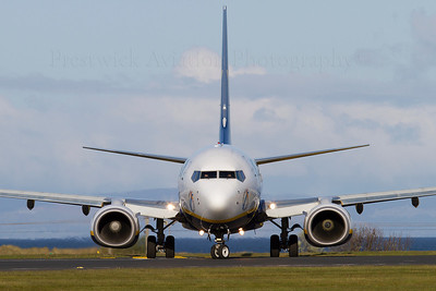 EI-DPM. Boeing 737-8AS. Ryanair. Prestwick. 120512.