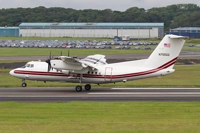 N705GG. De Havilland Canada EO-5B Dash 7. US Army. Prestwick. 160712.