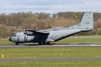 64-GC. Transall C-160R. French Air Force. Prestwick. 140412.