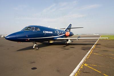 G-FRAR. Dassault Falcon 20DC. Cobham. Prestwick 240312.