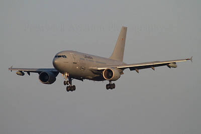 10+24. Airbus A310-304 MRTT. German Air Force. Prestwick. 270312.