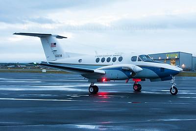 76-3239.  Beechcraft C-12C Huron. USAF. Prestwick. 121213.