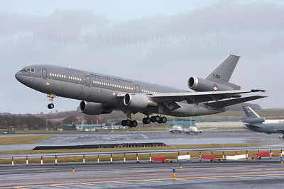T-255. McDonnell Douglas DC-10-30CF. Dutch Air Force. Prestwick. 291113.