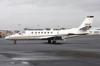 97-0102. Cessna UC-35A Citation Ultra. US Army. Prestwick. 201213.