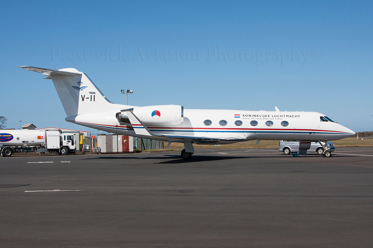 V-11 Gulfstream Aerospace Gulfstream IV Dutch Air Force Prestwick 190413
