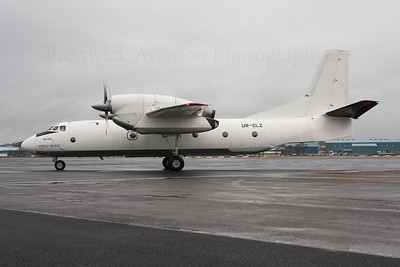 UR-CLZ. Antonov An-32B. Peruvian Navy. Prestwick. 131213.  On delivery to the Peruvian Navy.