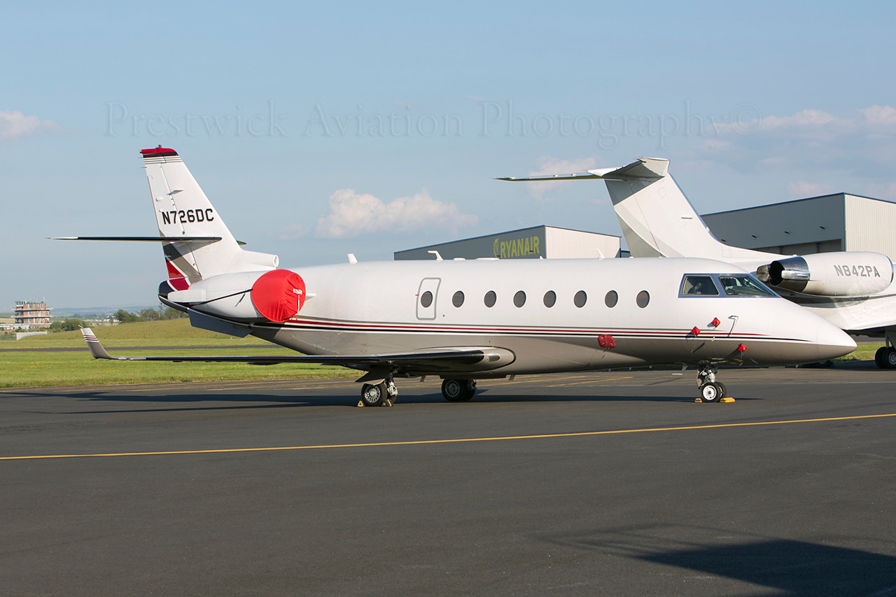 N726DC. Gulfstream Aerospace G200. Private. Prestwick. 080613.