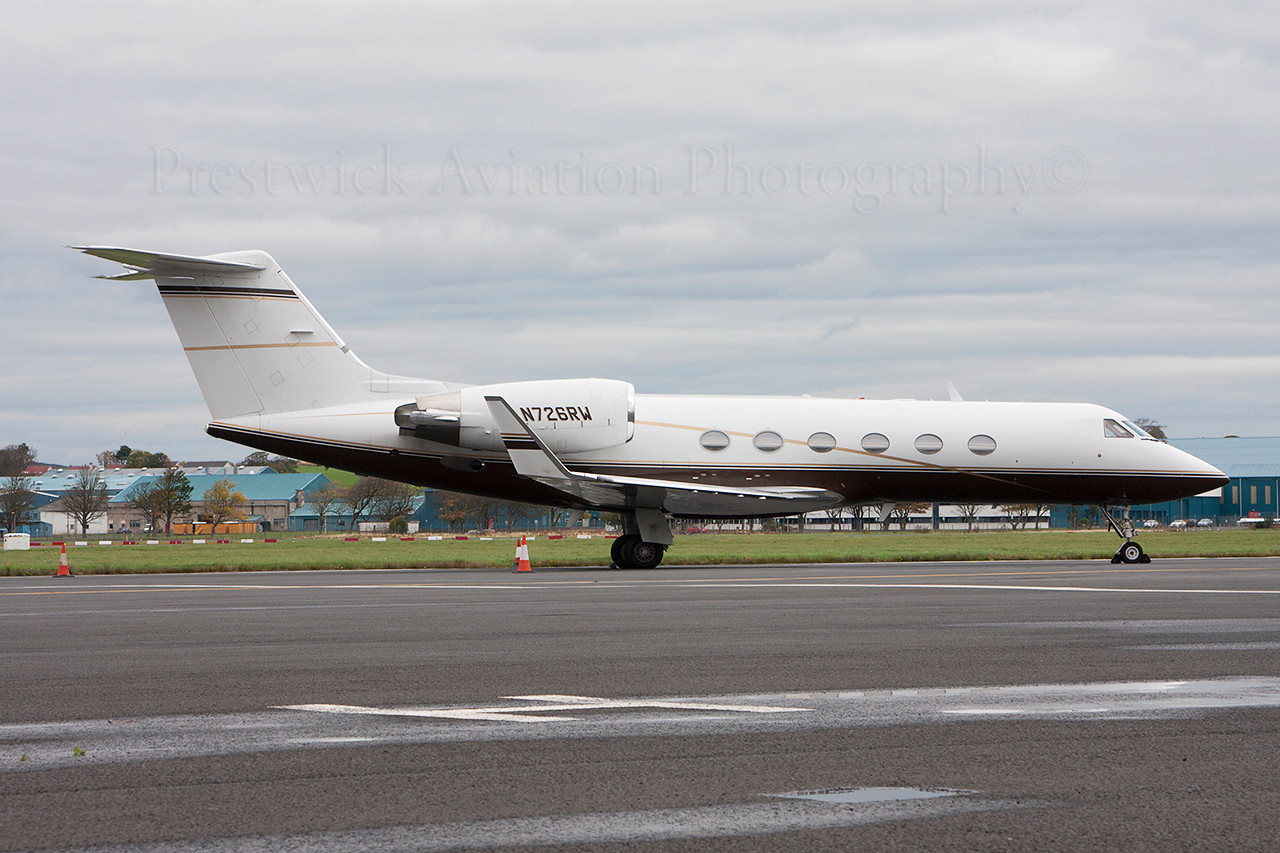 N726RW. Gulfstream Aerospace Gulfstream IV. Private. Prestwick. 261013.